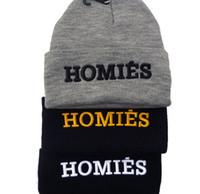 homies - 2014 Hot Sale HOMIES Beanies Knitted Hip Hop Caps men Women Embroidered Wool Cap Popular wool Hat Fashionable Winter Hat LJJD65