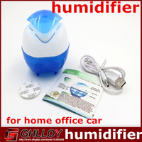 Wholesale New Ultrasonic Cute Air Humidifier Purifier Lonizer Warm White Aroma Diffuser Mist Maker for Home Office Room Car UP