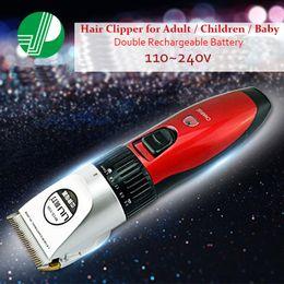 Wholesale Pro Hair Clippers Titanium Blade Trimmers Haircut for Men Children Baby w Rechargeable Battery Set maquina de cortar cabelo