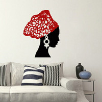 african wall murals - Vinyl Wall Decal Art Sticker African woman wall art mural wallpaper for home CM
