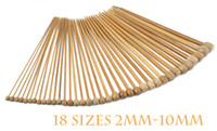 Wholesale Cheap Needles Set sizes quot Single Point Bamboo Knitting Needles