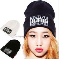 Wholesale 2015 Hot Sale NEW Parental Advisory Explicit Lyrics Beanies SKULL CAP HIP HOP Hat men Women Wool Cap Fashionable Winter Hat LJJD66