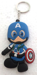 50 pcs lot New! Marvel Comics character Keychains Anime PVC Pendants For Gift free shipping