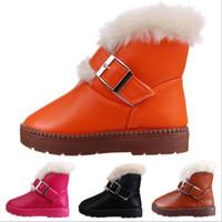 Wholesale Children s PU Boots Kids Boy Girls Winter PU Snow Boots Children s Warm Shoes Fashion Shoes
