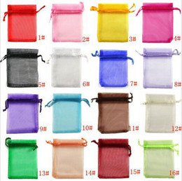 Wholesale set x9cm Black Drawable Organza Jewelry Packaging Wedding Gift Bags Pouches
