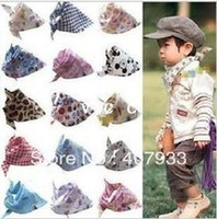Wholesale Baby Scarf bib Baby burp cloths Saliva towel triangle turban