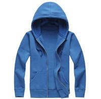 5pcs lot mens hoodies full zipper hoodie sweatshirts 100% co...