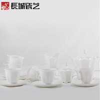 Wholesale Chinarts poetic life bone china porcelain cup and saucer cup teapot tea package Tea Set