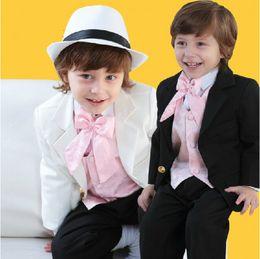 Wholesale 2014 Fashion Boy s Formal Occasion Light Suit Little Men Wedding Tuxedos Boy Party Birthday Suits Jacket Pants Vest Tie A623
