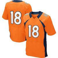 Wholesale 2014 Hot sale Manning Orange Blue White Men s Elite American football Jersey Size40 Stitched Name Logo Mix Order Football Jerseys