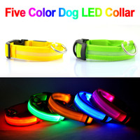 glow in dark products - LED Nylon Pet Dog Collar Night Safety LED Light up Flashing Glow pet products in the Dark