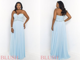 Wholesale 2015 A Line Sweetheart Plus Size Crystals Prom Dresses Evening Gown Beading Backless Zipper Floor Length High Quality New Formal Dress W