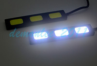 Wholesale 2pcs pair High Power Super White W Car COB LED Daytime Running Fog Lights Auto DRL Led Day Time Running Lamp