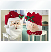 Wholesale Christmas Decoration Gift Mr Mrs Santa Claus Kitchen Chair Covers