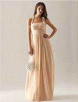 Cheap Empire Halter Floor-length Chiffon Bridesmaid Dress
