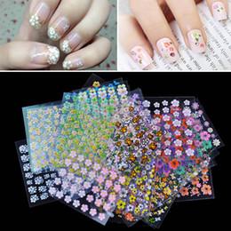 Wholesale New Sheets D Mix Color Floral Design Nail Art Stickers Decals Flower Manicure Beautiful Fashion Accessories Decoration H11543