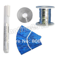 Wholesale Hot Solar cell Tabbing wire Bus wire Flux pen x19mm cells for v solar panel