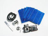 оптовых панели солнечных ячеек оптового-Оптовая DIY солнечной панели комплект 40 шт 6х6 polycystalline солнечных батарей 4w / шт, DIY солнечный продукт, за исключением энергии, бесплатная доставка