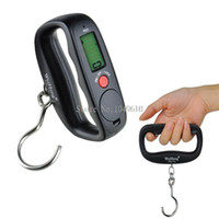 Cheap 50kg 10g LCD Electronic Hanging Fishing Luggage Pocket Portable Digital Weight Scale Wholesale Free Shipping
