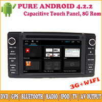 Wholesale Pure Android Car DVD Player Support G Wifi P HD Touch Panel GPS Radio Stereo Sat Nav For MITSUBISHI Outlander ASX Lancer