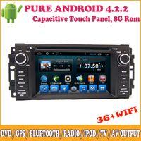 dvd media - In Dash Din Car DVD For Chrysler Sebring Caliber Journey Grand Cherokee Wrangler Compass Pure Android Support DVD GPS SWC Media Player