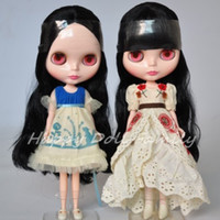 Wholesale naded Blythe doll black hair quot doll collection making up