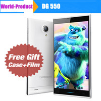 Wholesale 5 quot OGS Screen DOOGEE DG550 Dagger MTK6592 Octa Core GB GB Android Cellphones GPS Dual Sim Free leather Case