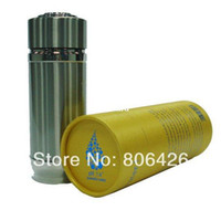 Wholesale ml stainless steel Nano Alkaline bottle cup flask gifted round box