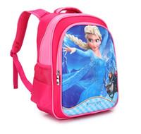 Wholesale New Fashion frozen babys School bags kids backpacks bags Cartoon bag backbags Handbags girls backpacks Kids frozen school bags
