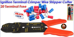 Wholesale Ignition Terminal Crimper Cable Wire Stripper Cutter Plier Free Terminals