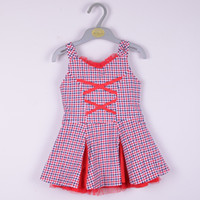 Cheap Red plaid Pleated skirt Best 100 cotton Pleated skirt