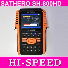 1pc original Sathero SH-800HD DVB-S2 Digital Buscador de Satélite Meter USB2.0 Salida HDMI Satfinder HD con Analizador de Espectro desde buscador hd sathero proveedores