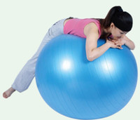 Wholesale cm Exercise Fitness Aerobic Yoga Ball for Health Gym Yoga Pilates with Pedal inflating pump