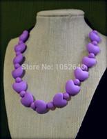 Wholesale BPA Free Food Grade Silicone Teething Chew Nursing Babywearing Necklace Small round Large love shape Beads