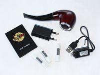 Cheap Mini E-Pipe 628 Electronic Cigarette 510 EGo Thread 350mAh Wood Color Ehookah Mini Pipe 628 Epipe with Three Cartridge