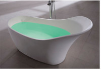 corian solid surface - 1690x740x880mm Ocean Shipping Solid Surface Stone Bathtub Freestanding Slipper shaped Corian Soaking Tub CUPC Approval