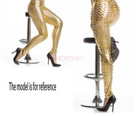 Cheap New Women Punk Style Gold Silver Legging Novelty Skinny Fish Scale Leggings Sexy Clubwear Trousers Ankle-Length Pencil Pants SV001472