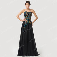 Cheap Grace Karin 2015 STOCK Vintage Long Short Peacock Evening Prom Formal Party Bridesmaid Dress 8 Size US 2~16 CL6168