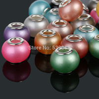 Wholesale mm Glass Pearl Necklace Beads Big Hole Loose Beads fit European Beads Jewelry Braclet Charms DIY