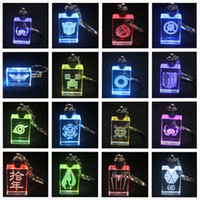 Wholesale Spiderman Heroes Alliance Gintama The game of life Colorful flashing Crystal LED Light Pendant Keychain Hanging buckle H02