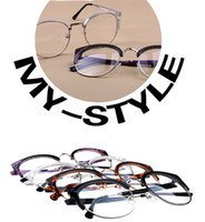 Wholesale M700 FREESHIPPING retro bigeye frame men and women shall tide half frame glasses frame metal band plano lens glasses