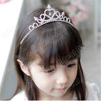 tiaras for kids - Cute Princess Hair Band Tiara For Kids Girl Children Rhinestone Headband Silver SV001649