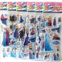 Wholesale 2014 FROZEN Cartoon Stickers Decorative Stickers Kids PVC Sticker toys stickers Children gift toys