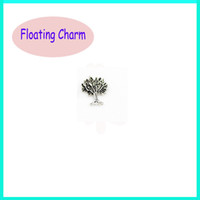 Charms Traditional Charm Animals Silver Cocount Tree Floating Charm For Living Memory Glass Locket Charm Origami Owl Charm