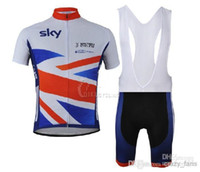 cycling jersey bib shorts - 2014 vintage cycling jerseys sky team cycling jerseys Short Sleeve Cycling Jersey bib short Outdoor bike clothing Set ENGLAND C00S