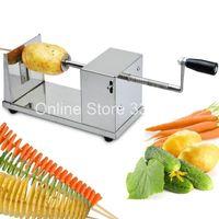 Cheap Stainless Steel Manual Tornado Potato Machine Spiral Potato Chips Cutter Slicer 20pcs Fedex shipping