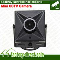 Wholesale Beautiful appearance DC12V Small metal housing Mini Size CCTV Camera CMOS SONY CCD TVL TVL mm mm Lens Optional