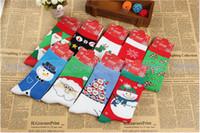 Wholesale Christmas Women Cute Socks Wool Warm Stockings Thermal Winter Deer Socks Female Thickening Towel Cotton Girl Socks k0005