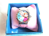 Wholesale Frozen watch kids fashion anna elsa watch quartz cartoon Jelly Candy led with box Cute Lovely Girl woman lady Kids christmas gift