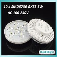 Wholesale 2PCS Gx53 LED Lamp W AC V High Brightness SMD5730 Chips Under Cabinet Led Lights